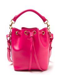 Saint Laurent | Pink Emmanuelle Leather Bucket Bag | Lyst