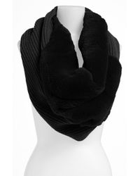 Lafayette 148 New York | Black Genuine Rabbit Fur Trim Tube Scarf | Lyst