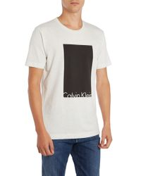 Calvin Klein | White Tel T-shirt for Men | Lyst