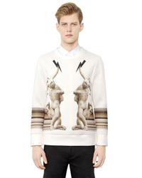 Neil Barrett - White Statues Printed Neoprene Sweatshirt for Men - Lyst