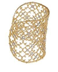 Alexis Bittar | Metallic Gold-tone Crystal Stud Lace Cuff | Lyst