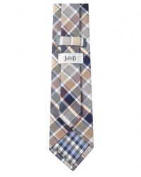 Jules B | Natural Large Check Tie for Men | Lyst