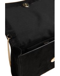 BOSS - Black 'luxury Staple Mini' | Suede Clutch With Shoulder Strap - Lyst
