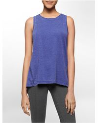 Calvin Klein | Blue White Label Performance Cross Back Tank Top | Lyst