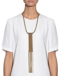 Lanvin - Metallic Zita Rope-chain Necklace - Lyst