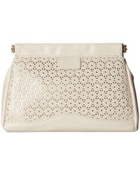 Jessica Mcclintock | White Perforated Frame Clutch | Lyst
