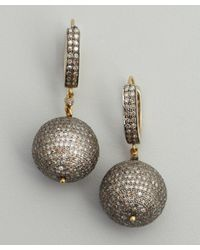 Amrapali - Metallic Diamond and Gold Sphere Drop Earrings - Lyst