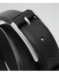 Reiss - Black Vinnie Formal Leather Belt for Men - Lyst