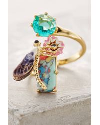 Les Nereides - Blue Dragonfly Alight Ring - Lyst