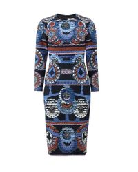 Peter Pilotto | Blue Start Dress | Lyst