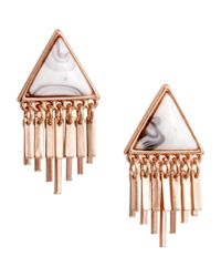 H&M - Pink Triangular Earrings - Lyst