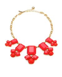 Kate Spade | Red Swirl Around Necklace | Lyst
