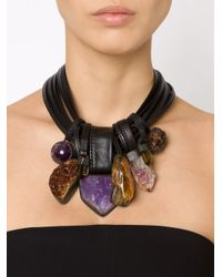 Monies | Brown Stone And Horn Necklace | Lyst