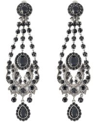 Givenchy | Metallic Victorian Chandelier Clip-on Earrings | Lyst