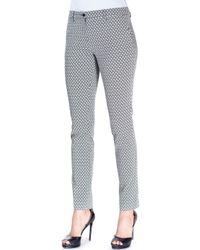 Etro - Gray Diamond-Print Cotton-Blend Pants - Lyst