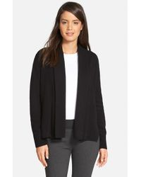 Nordstrom Collection - Black Cashmere Shawl Collar Cardigan - Lyst