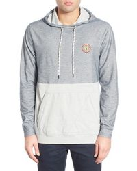 Volcom - Gray 'noise' Colorblock Hoodie for Men - Lyst