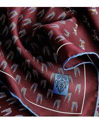 Gucci - Blue Logo Weave Scarf - Lyst