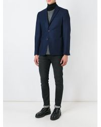 KENZO | Blue Button Blazer for Men | Lyst