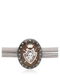Amedeo | Gray Sardonyx Shield Cameo Bracelet for Men | Lyst