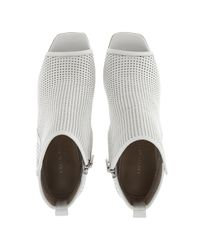 Karen Millen - White Perforated Peep Shoe Boot - Lyst