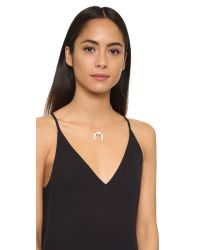 Jacquie Aiche - Metallic Ja Double Bone Horn Necklace - Lyst