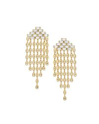 DANNIJO | Metallic Gianna Gold-plated Crystal Earrings | Lyst