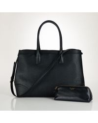 Pink Pony | Black City Leather Tote | Lyst