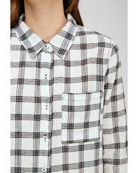 Forever 21 - Black Plaid Button-down Shirt - Lyst
