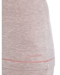 Calvin Klein | Pink Short Sleeved Pj Top | Lyst