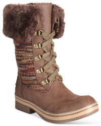 Rocket Dog | Brown Suri Lace-up Cold Weather Boots | Lyst