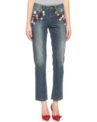 RED Valentino | Blue Stonewashed Heavy Skinny Jeans - Denim | Lyst