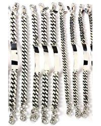 Loren Stewart | Metallic Sterling Silver Xl Id Bracelet | Lyst