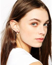 Stella & Bow | White Charlotte Pearl Throu & Throu Earrings | Lyst