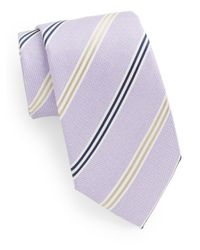 Saks Fifth Avenue - Purple Briar Striped Silk Tie for Men - Lyst