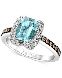 Le Vian - Blue ® Aquamarine (1-1/10 Ct. T.w.) And Diamond (2/5 Ct. T.w.) Ring In 14k White Gold - Lyst
