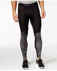 Adidas | Black Print Compression Leggings for Men | Lyst