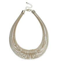 Kenneth Jay Lane - Metallic Gold Hoop Collar Necklace - Lyst
