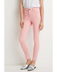 Forever 21 | Pink Classic Skinny Jeans | Lyst