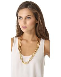 Rachel Zoe - Metallic Signature Link Necklace - Lyst