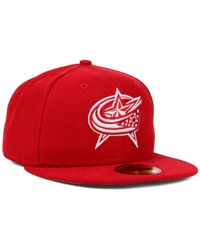 KTZ - Red Columbus Blue Jackets C-dub 59fifty Cap for Men - Lyst