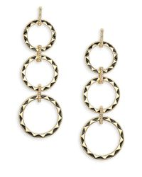 House of Harlow 1960 | Metallic Etched Circle Drop Earrings | Lyst