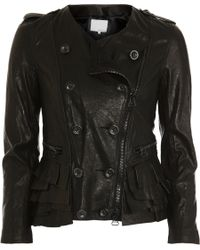 3.1 Phillip Lim - Black Tiered Ruffle Hem Jacket for Men - Lyst