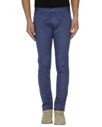 Officina 36 - Blue Casual Trouser for Men - Lyst