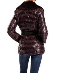 Dawn Levy - Purple Detachable Faux Fur Collar Jacket - Lyst