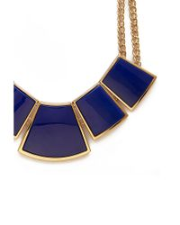 Forever 21 - Blue Geo Bib Necklace - Lyst