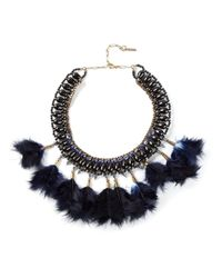 Isabel Marant | Blue Feather Necklace | Lyst