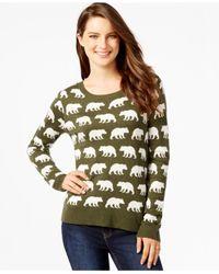 G.H. Bass & Co. | Green Bear-print Sweater | Lyst