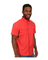Under Armour | Red Ua Iso-chill Flats Guide S/s Shirt for Men | Lyst