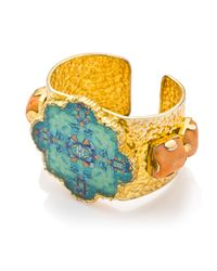 Tilayo - Green Eight Cuff With Coral - Lyst